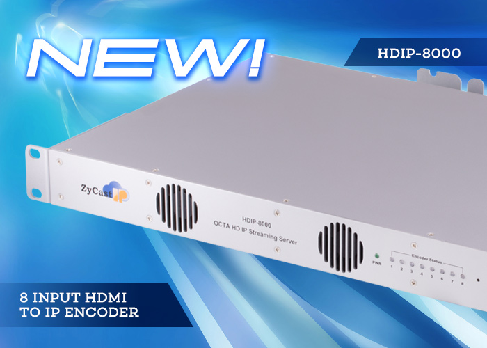 HD-IP8000 - 8 input HDMI to IP encoder