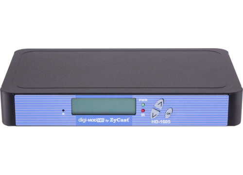 SINGLE INPUT HD MODULATOR WITH IR RETURN AND AUDIO DELAY