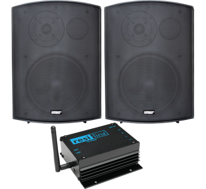 "RL-BT602 - 50W Bluetooth amp and 8"" weatherproof wall speaker pack"
